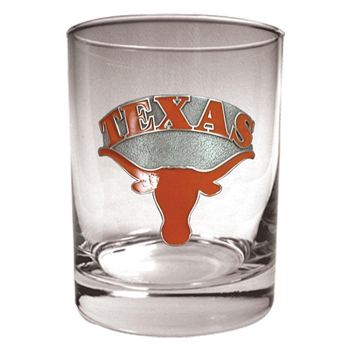 Texas Longhorns Rocks Glass (Engravable)