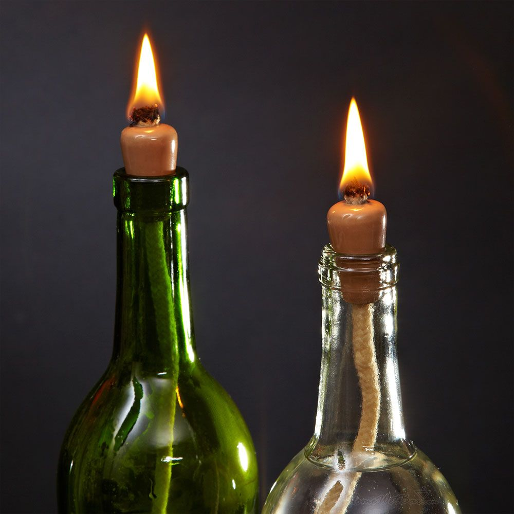 Wine Bottle Candle Wicks Set Of 2