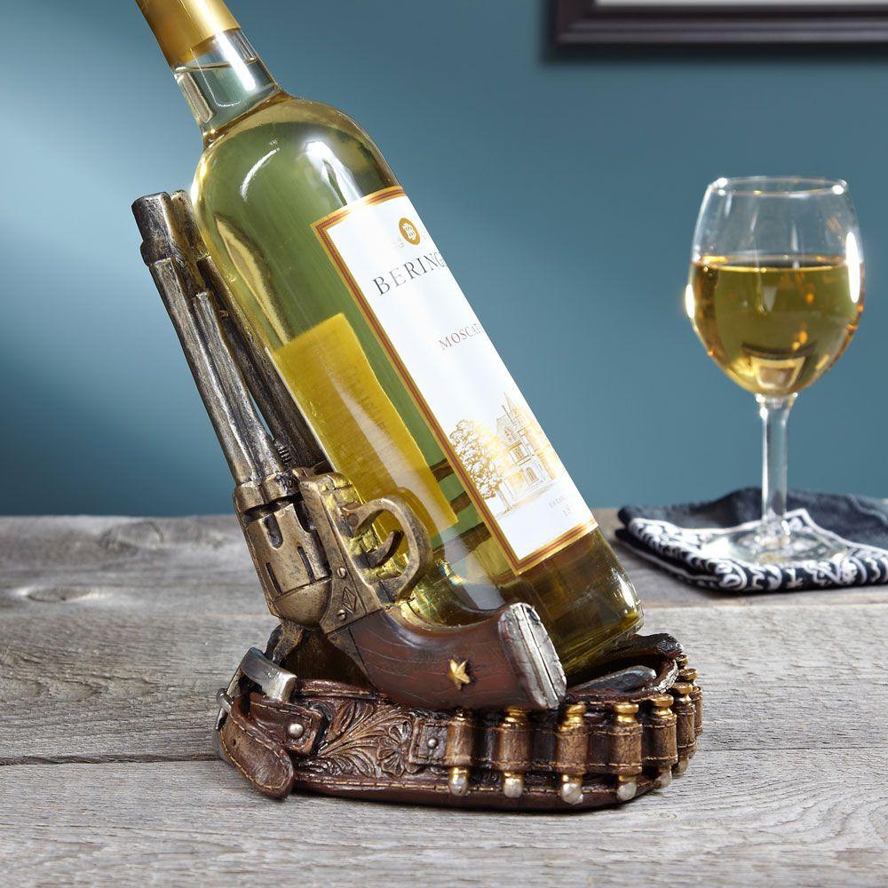 Twin Pistols Wine Bottle Holder