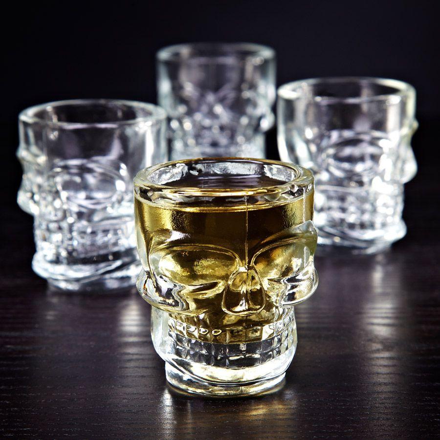 Skulls of Doom Shot Glasses, Set of 4