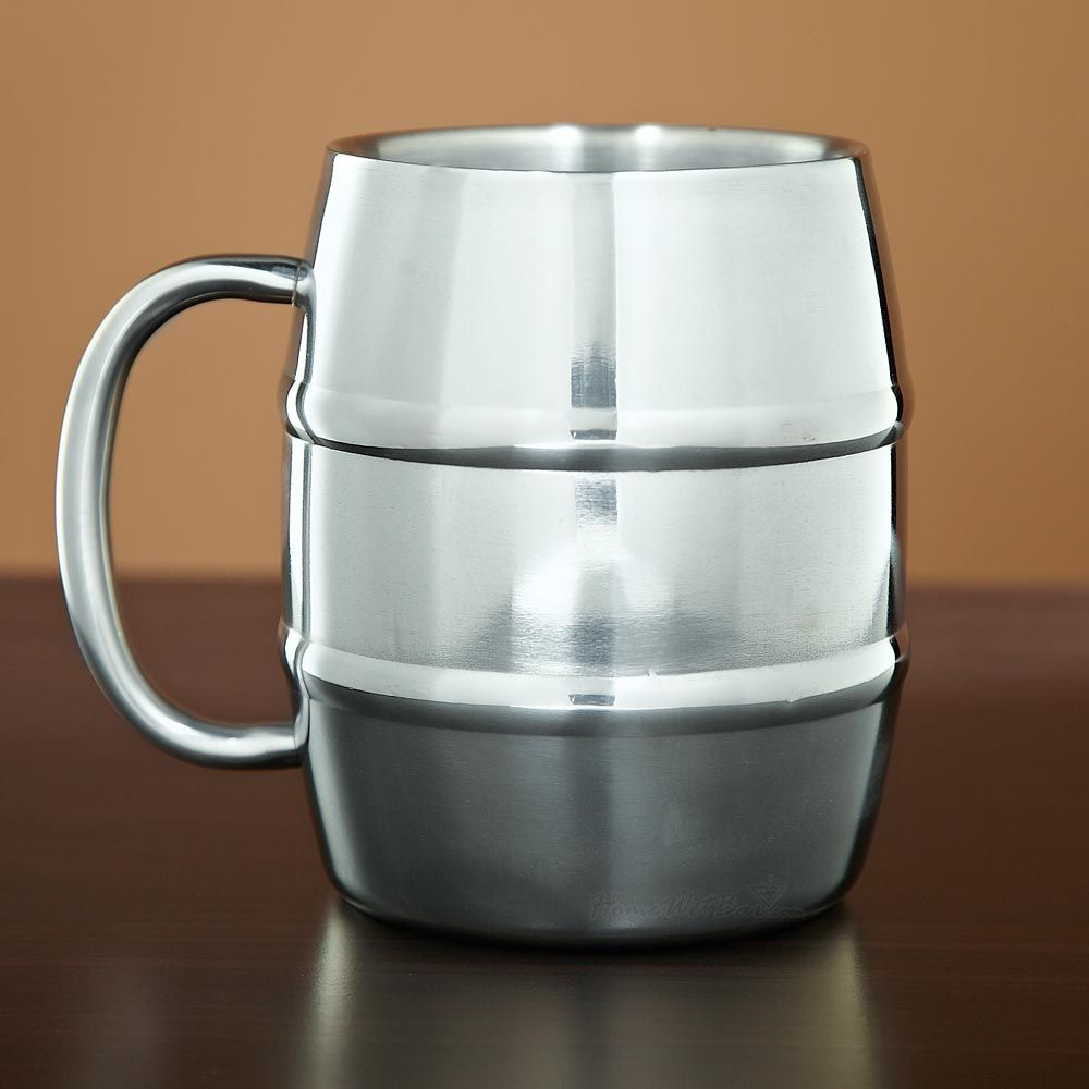 Barrel Stainless Double Wall Mug, 14 oz