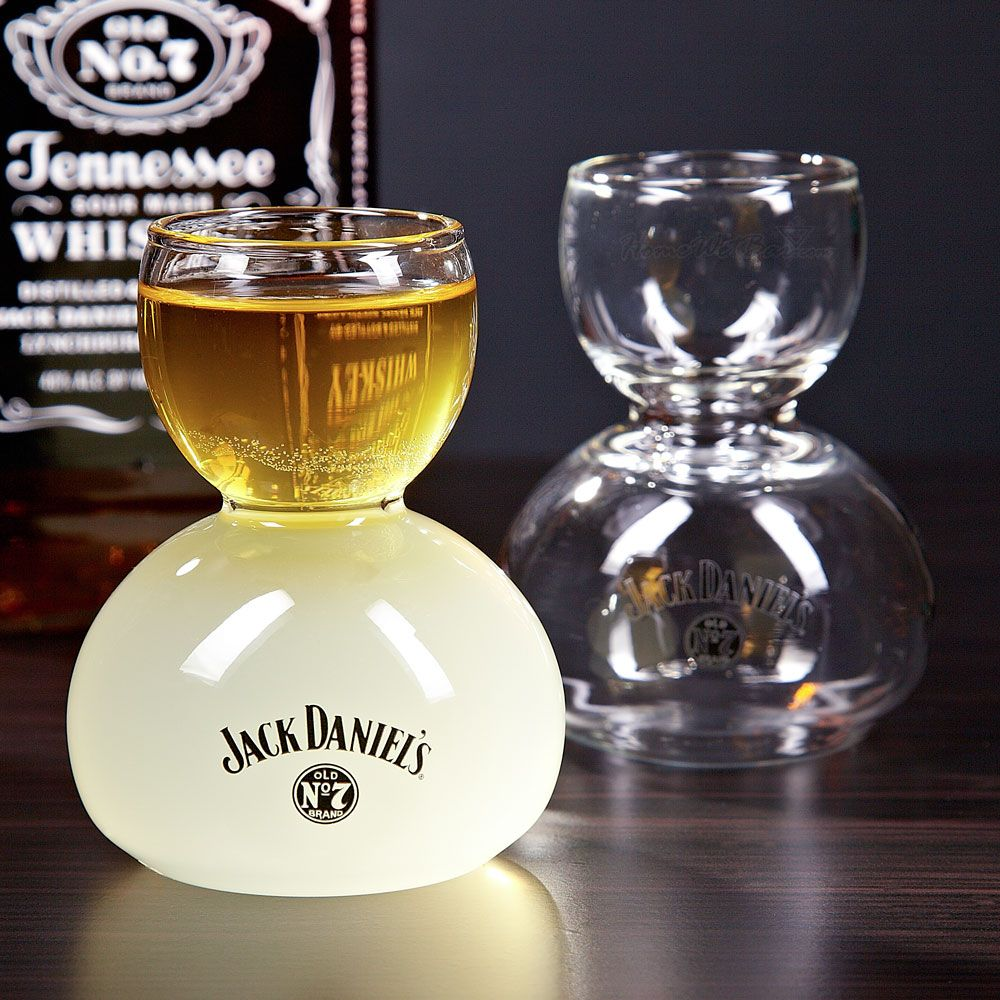 Jack Daniels Whiskey on Water Glasses, Set of 2 (Engravable)