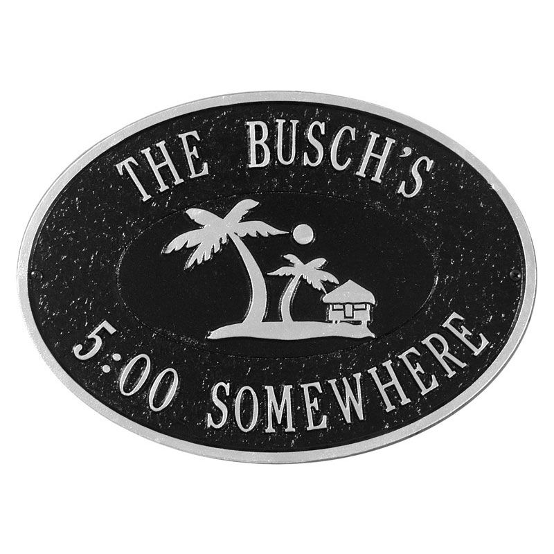 Personalized Summertime Outdoor Plaque