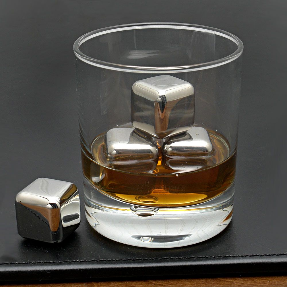 Stainless Steel Whiskey Stones, Set of 4