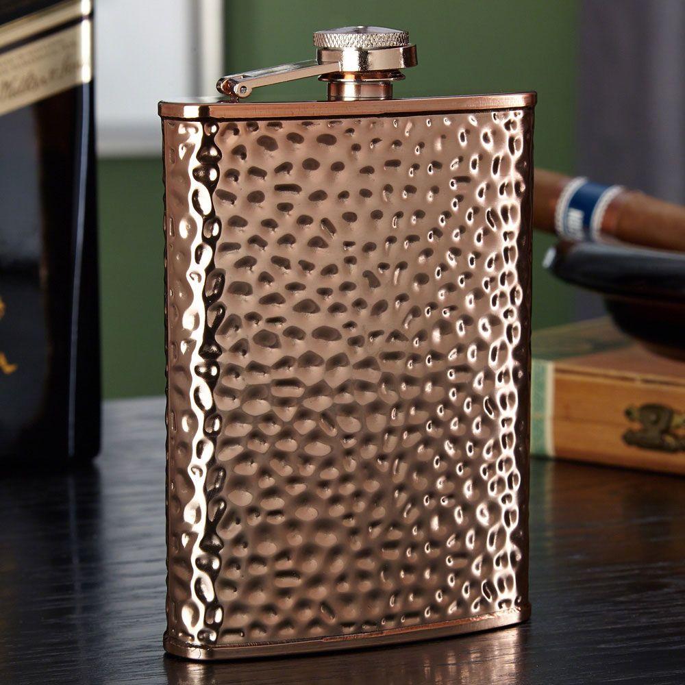 Verona Hammered Stainless Steel Liquor Flask