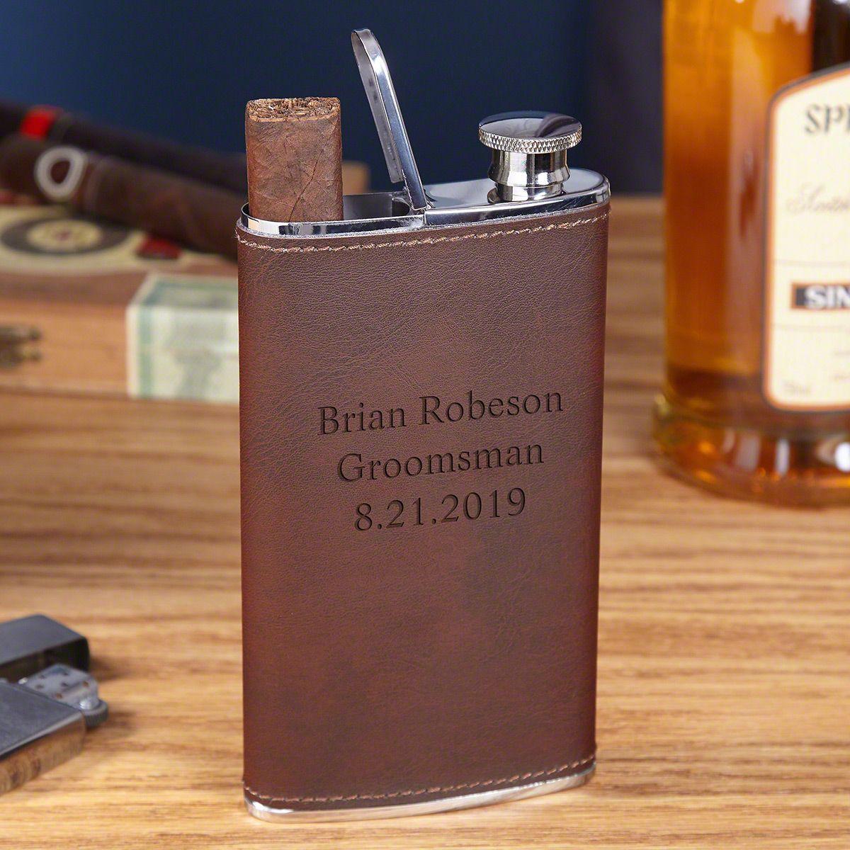 Tattenbaum Custom Leather Flask & Cigar Holder