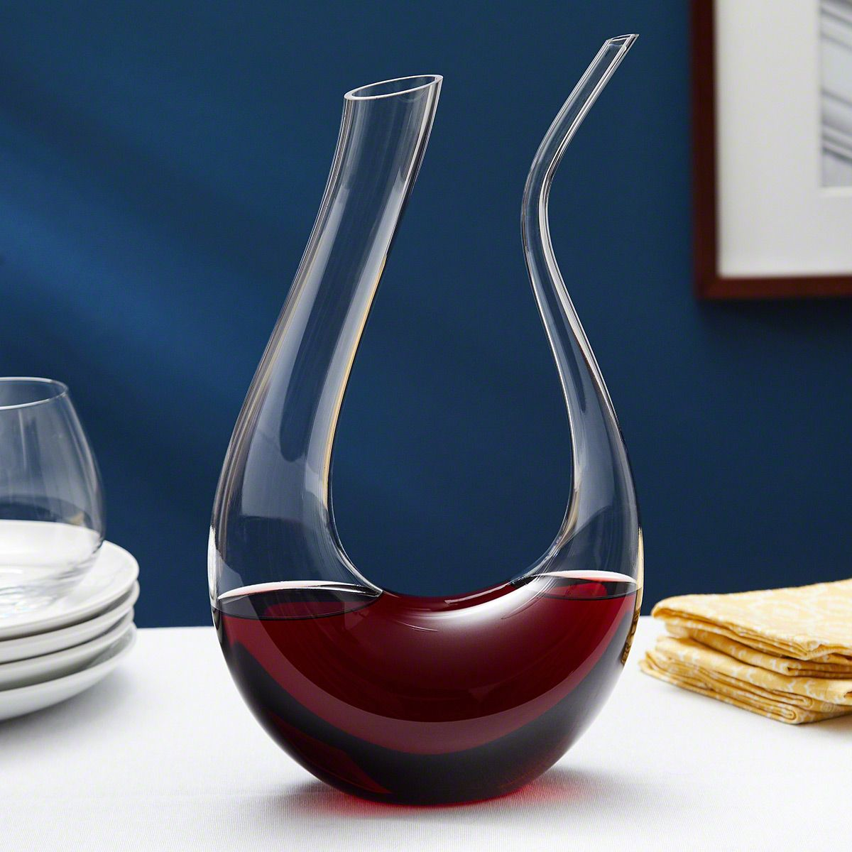 Makuria Glass Horn Wine Decanter