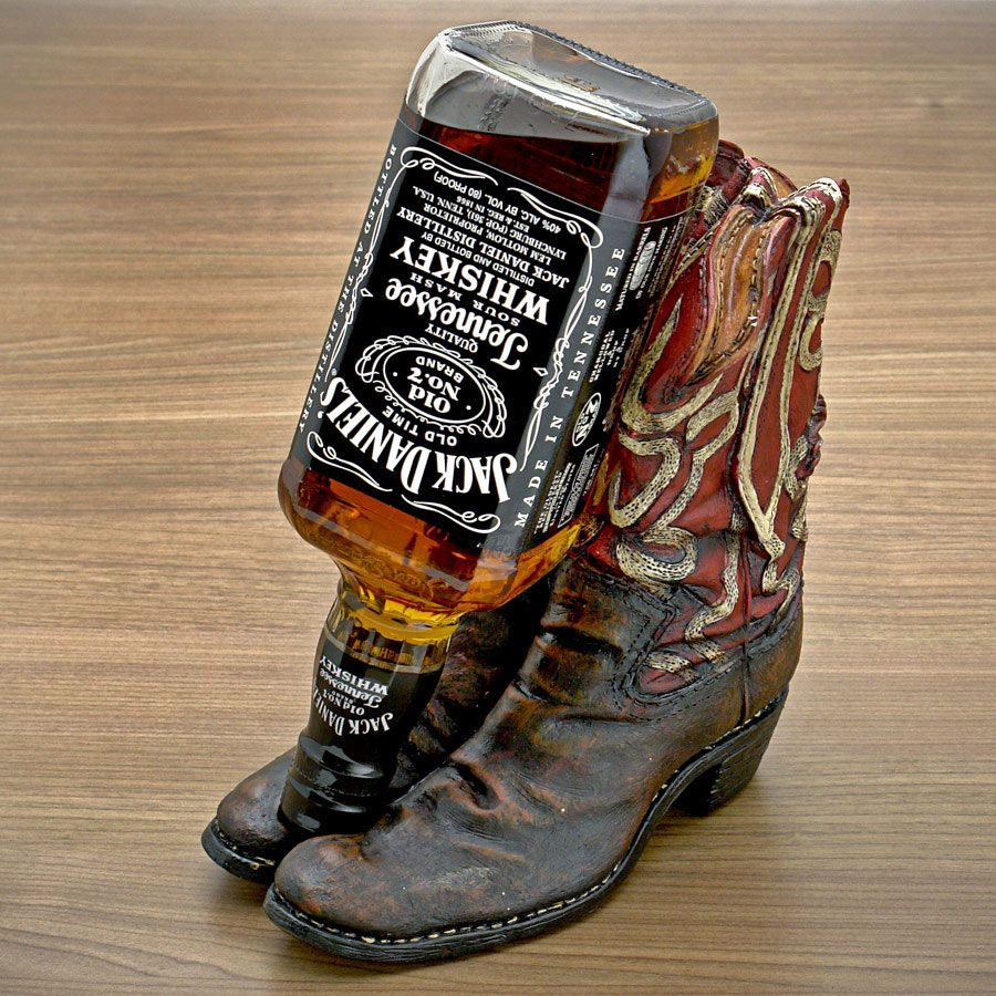 Cowboy Boot Liquor Bottle Holder