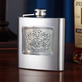 Royal Crested Personalized Hip Flask