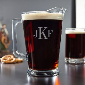 Classic Personalized Glass Beer Pitcher