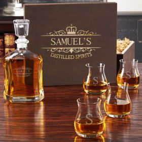 Kensington Whiskey Decanter and Glencairn Glass Set