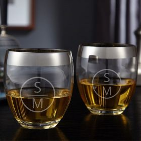 Emerson Engraved Simply Class Whiskey Glasses, Set of 2