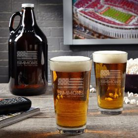 American Heroes Beer Glass and Growler Set