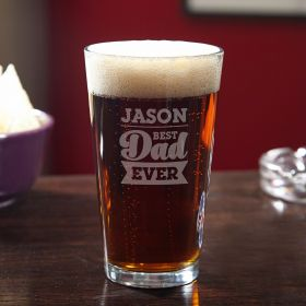 For the Best Dad Custom Pint Glass
