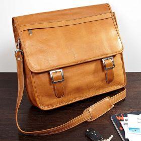 Brawley Top-Grain Leather Laptop Messenger Bag