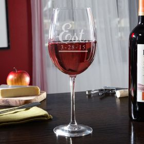Well Established Personalized Wine Glass