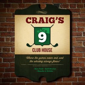 Back 9 Club House Custom Sign