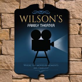 Family Theater Personalized Wall Sign