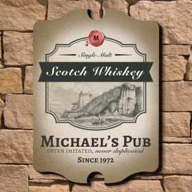 Single Malt Scotch Personalized Bar Sign