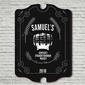 Straight Kentucky Whiskey Custom Bar Sign