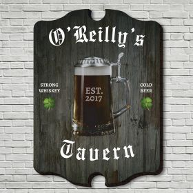 Old Irish Tavern Personalized Wall Sign