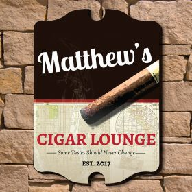 Tasteful Cigar Personalized Wall Sign