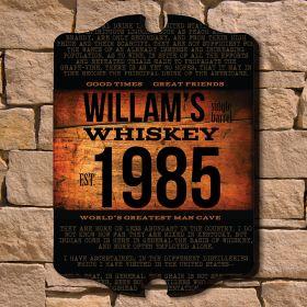 Single Barrel Whiskey Personalized Sign