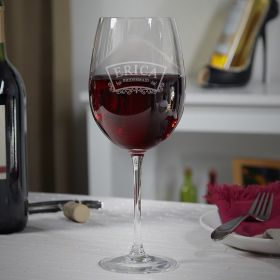 Timeless Wedding Personalized Wine Glass