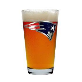 New England Patriots 16 oz Pint Glass (Engravable)