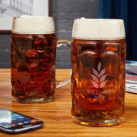 Naturally Brewed Custom Beer Steins, Set of 2