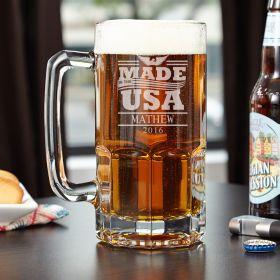 Colossal USA Made Personalized Beer Mug