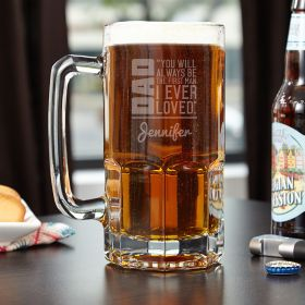 From Daughter to Dad Colossal Custom Beer Mug