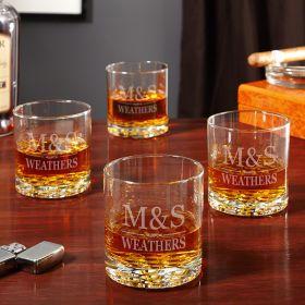 Brighton Custom Whiskey Glasses, Set of 4