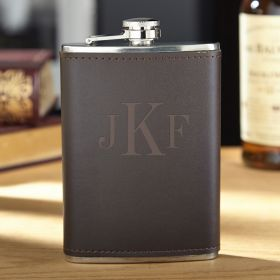 Classic Monogram Fitzgerald Personalized Flask