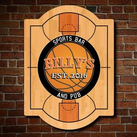 Nothing But Net Custom Sports Bar Sign