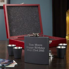 Deluxe Blackout Flask Gift Set