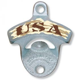 Desert Camo USA Wall Bottle Opener