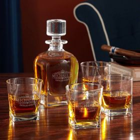 Kensington Personalized Decanter Set