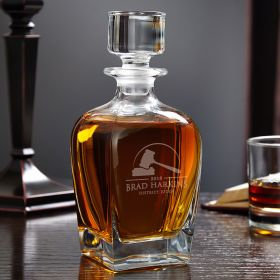 Personalized Gavel and Block Whiskey Decanter