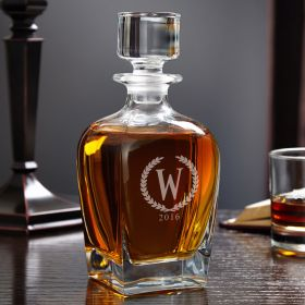 Draper Statesman Personalized Whiskey Decanter