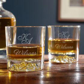 Sheridan Personalized Scotch Glasses, Set of 2