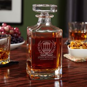 Carson Custom Courthouse Decanter for Lawyers