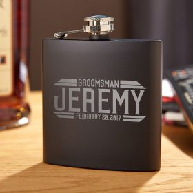 Bradshaw Engraved Hip Flask