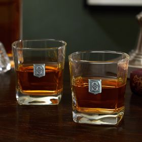 Regal Crested Rutherford Whiskey Glasses Set of 2