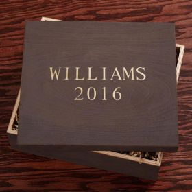 Handcrafted Maple Wood Engraved Gift Box