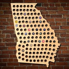 Giant XL Georgia Beer Cap Map