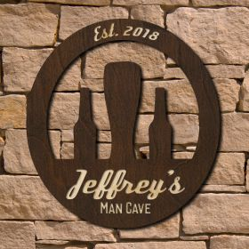Retro Personalized Man Cave Sign (Signature Series)