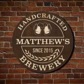 Handcrafted Brewery Custom Bar Sign (Signature Series)