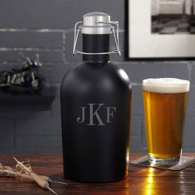 Custom Classic Monogram Steel Beer Growler