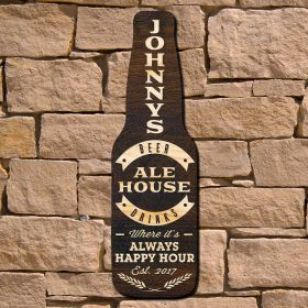 Ale House Custom Wood Bar Sign (Signature Series)